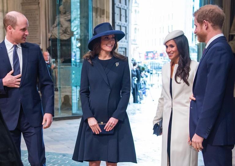 Принц Уильям, Кейт Миддлтон, Меган Маркл и принц Гарри