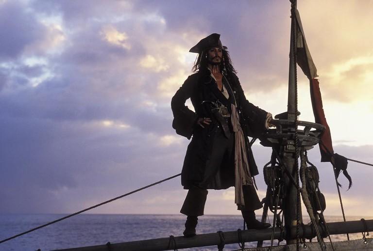 Джонни Депп в образе капитана Джека Воробья