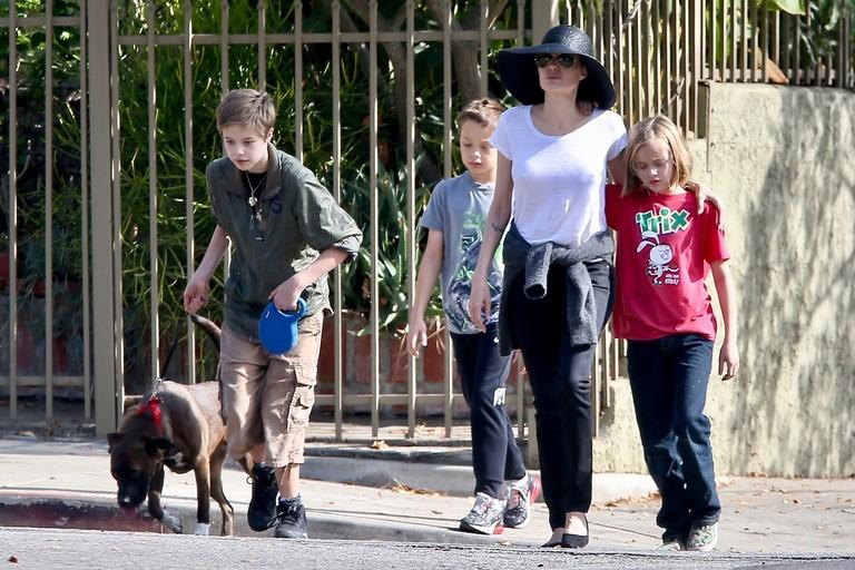 Анджелина Джоли с детьми, ноябрь 2018