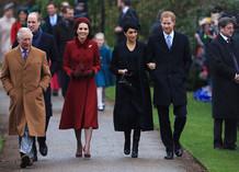Королевская семья на рождественской службе