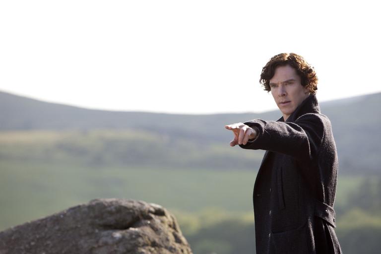 Бенедикт Камбербэтч в образе Шерлока Холмса