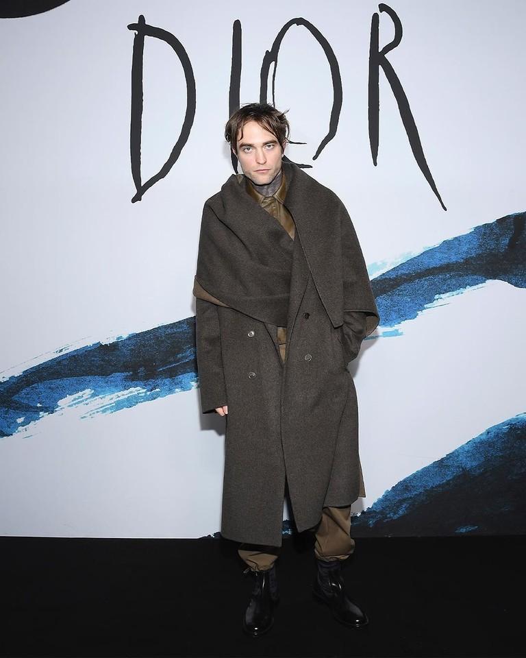 Роберт  Паттинсон на показе Dior