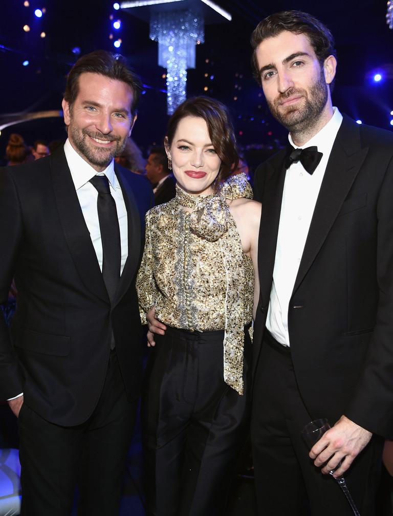 Брэдли Купер и Эмма Стоун с бойфрендом на SAG Awards