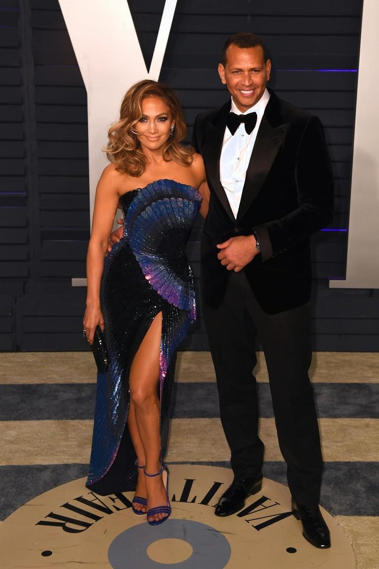 Дженнифер Лопес и Алекс Родригес на after-party «Оскара»