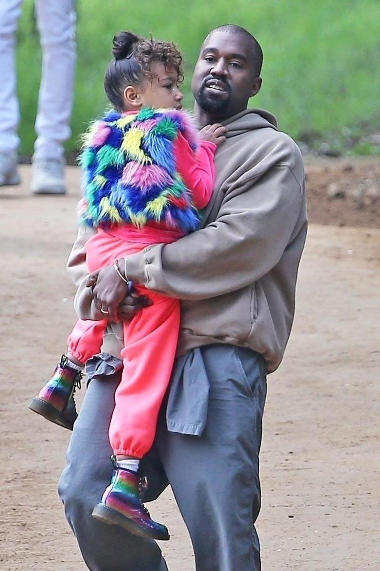 Канье Уэст с дочкой