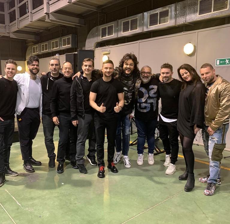 Сергей Лазарев и Филипп Киркоров с командой