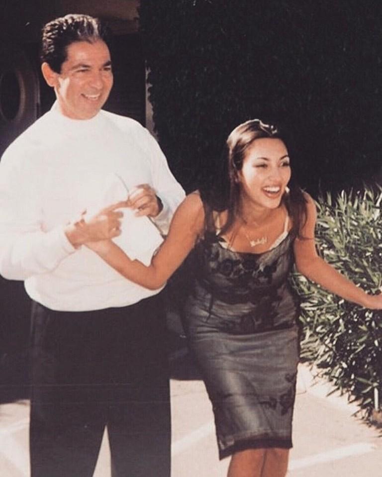 Ким Кардашьян с отцом, Робертом Кардашьяном