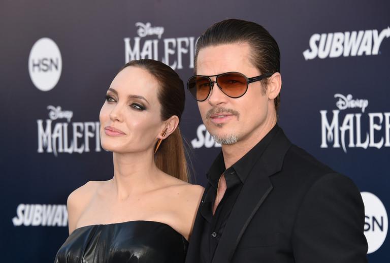 Анджелина Джоли и Брэд Питт, 2014 год