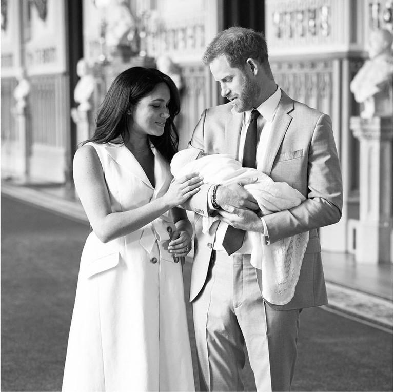 Меган Маркл и принц Гарри с сыном Арчи