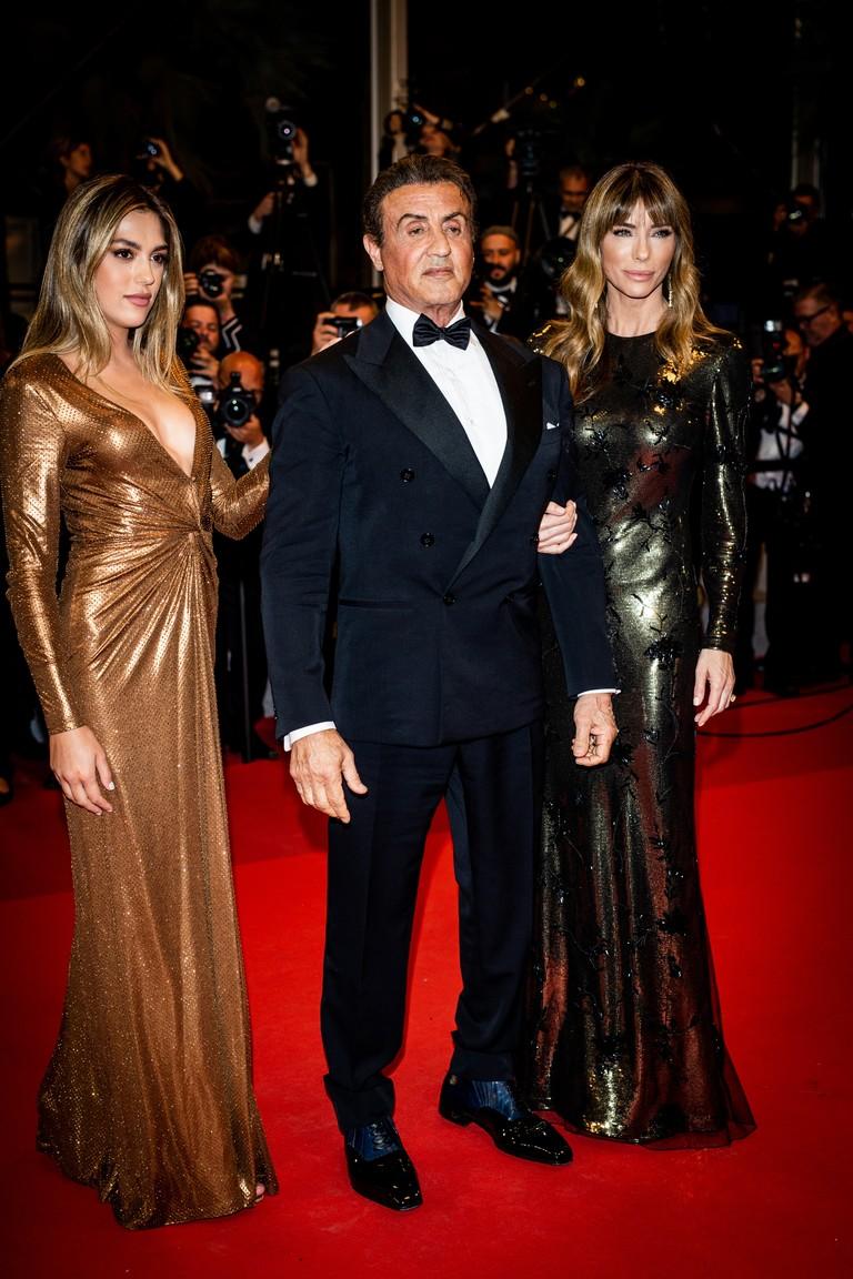 Сильвестр Сталлоне с женой и дочерью