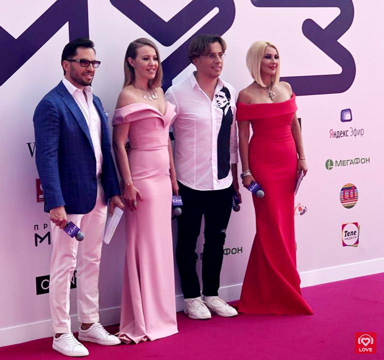 Александр Ревва, Ксения Собчак, Максим Галкин и Лера Кудрявцева