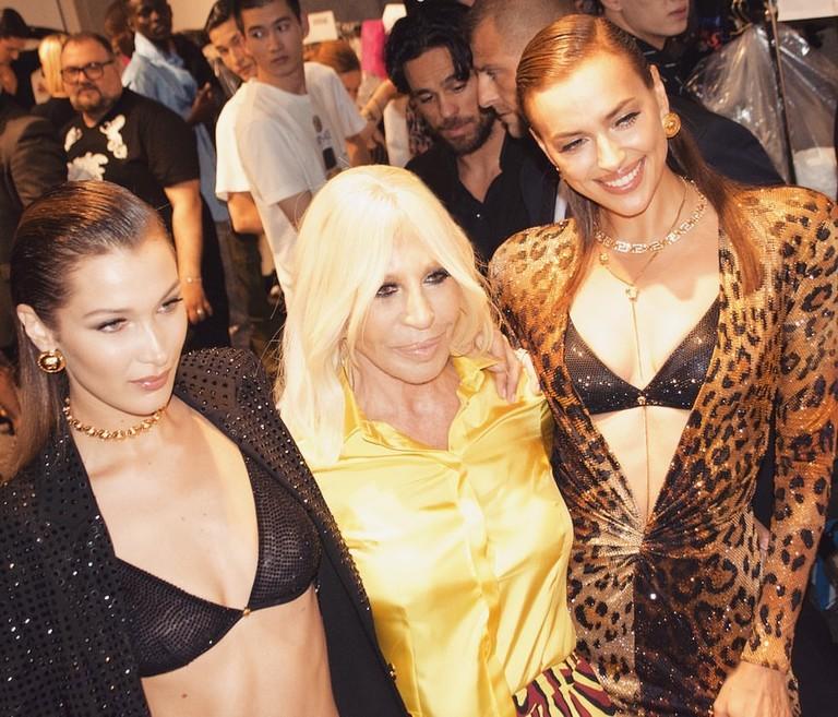 Белла Хадид, Донателла Версаче и Ирина Шейк