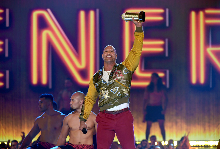 Дуэйн Джонсон на премии MTV
