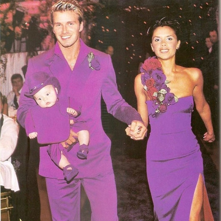 Дэвид и Виктория Бекхэм с сыном Бруклином