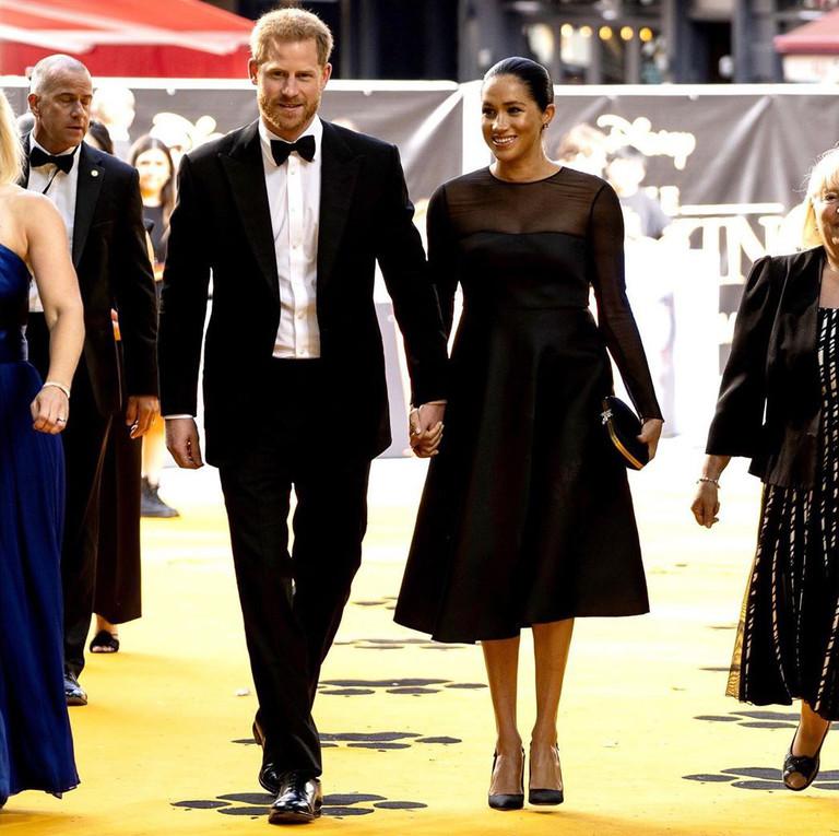 Принц Гарри и Меган Маркл на премьере «Короля Льва»