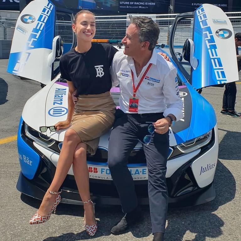 Ирина Шейк и Алехандро Агаг на Формуле E
