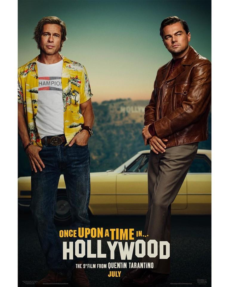 Брэд Питт и Леонардо ДиКаприо в фильме «Однажды в... Голливуде»