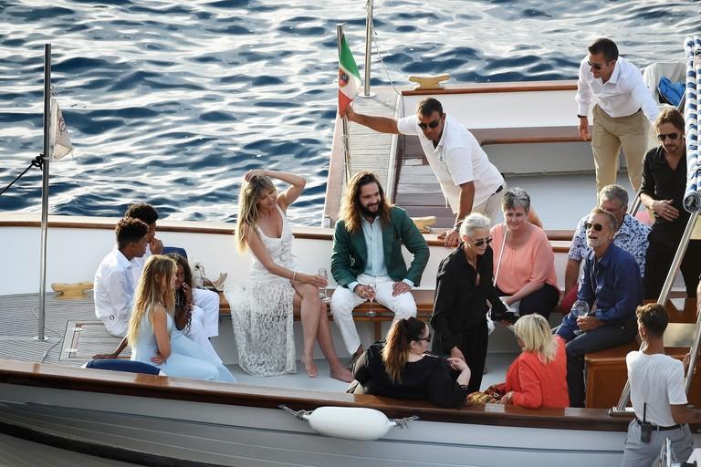 Хайди Клум и Том Каулитц на яхте