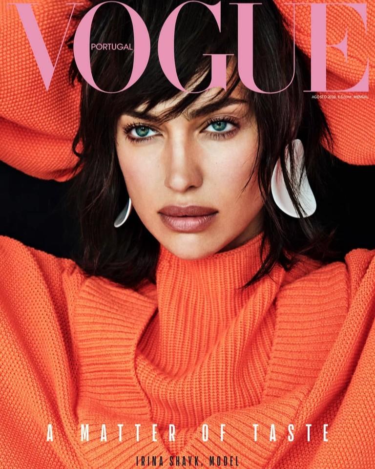 Ирина Шейк на обложке Vogue Portugal