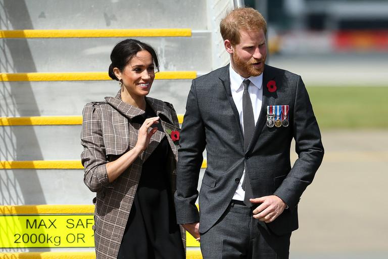 Меган Маркл и принц Гарри во время путешествия по Новой Зеландии