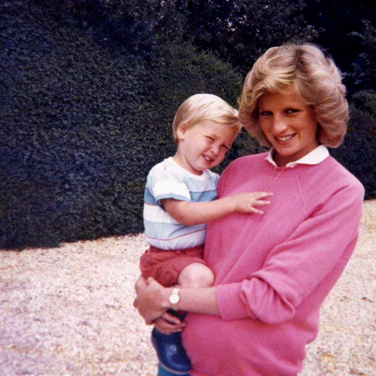 Принцесса Диана и маленький принц Уильям