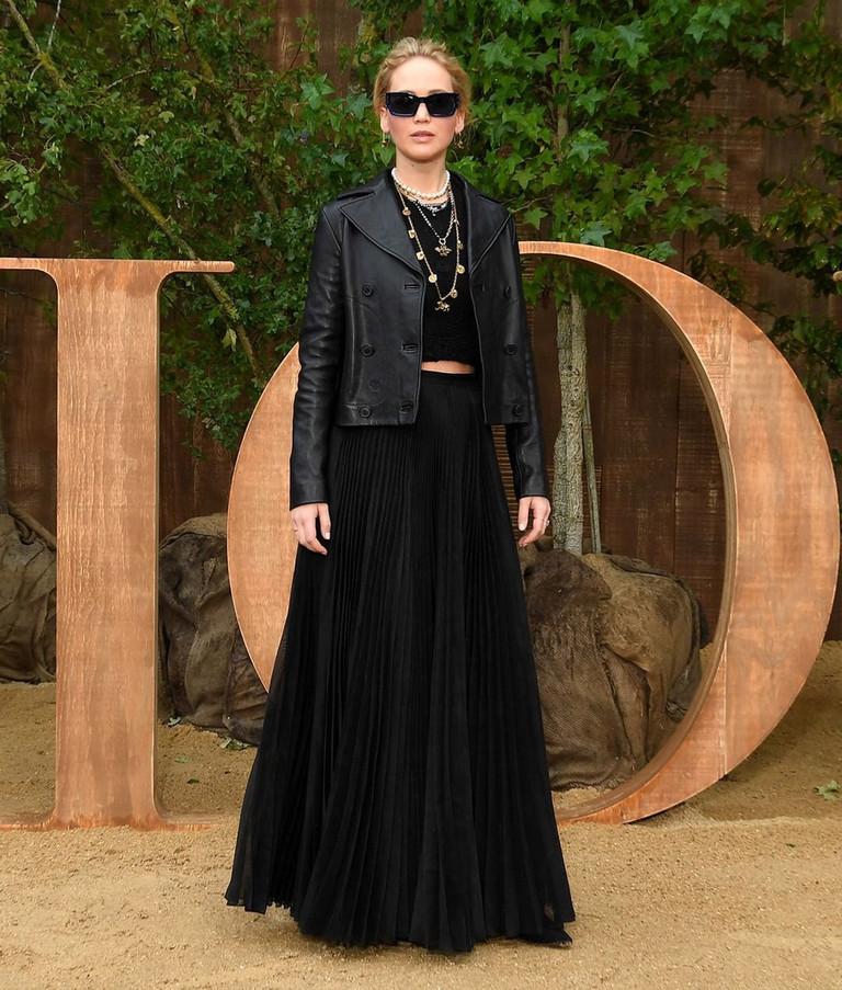 Дженнифер Лоуренс на показе Dior