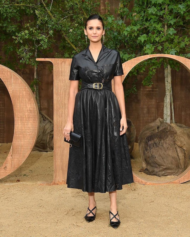 Нина Добрев на показе Dior