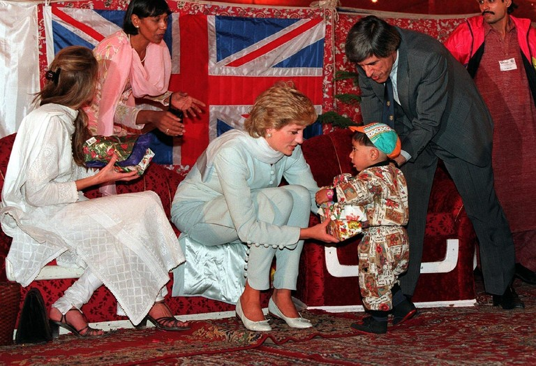 Принцесса Диана в Пакистане (1996 год)