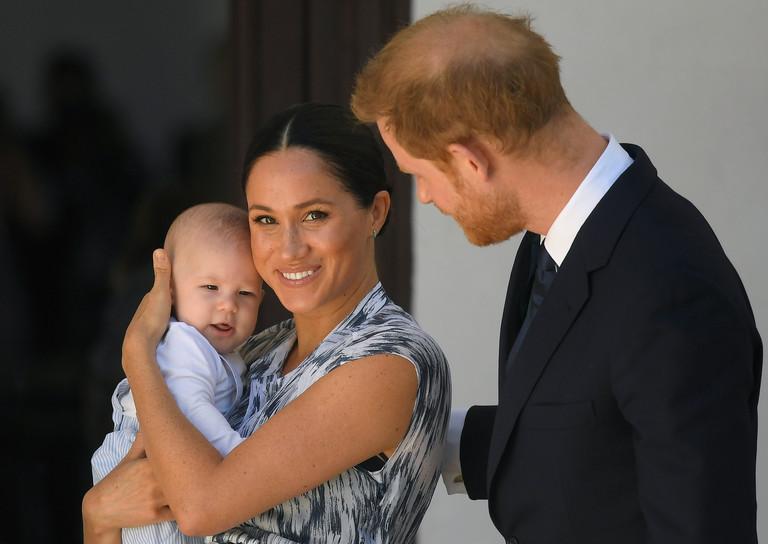 Меган Маркл с малышом Арчи и принц Гарри