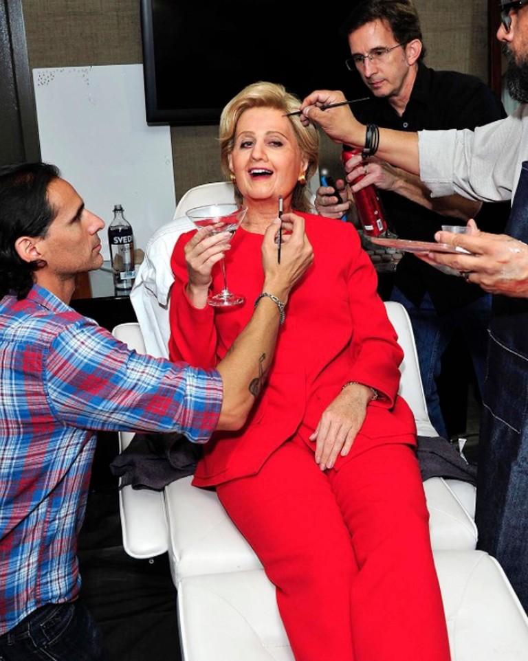 Кэти Перри в образе Хиллари Клинтон