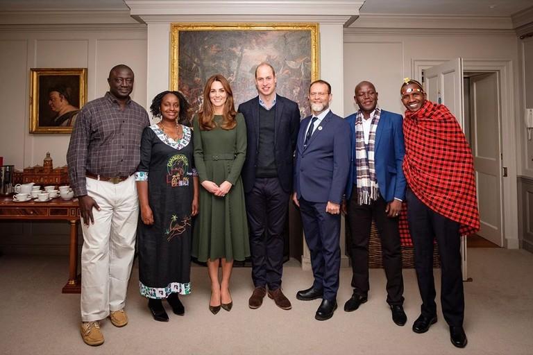 Принц Уильям, Кейт Миддлтон и лауреаты премии Tusk Conservation Awards