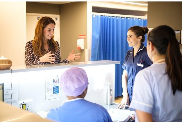 Кейт Миддлтон в родильном отделении Кингстонской больницы