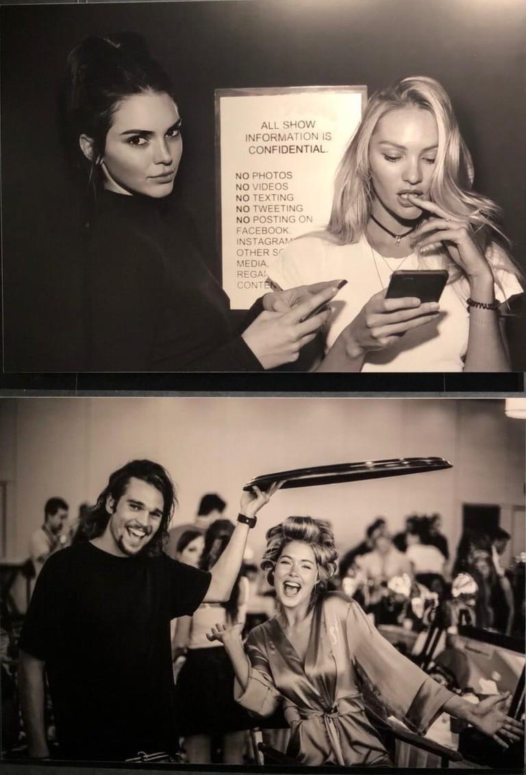 Фото с выставки Рассел Джеймс. «Десять лет за кулисами Victoria's Secret Fashion Show»