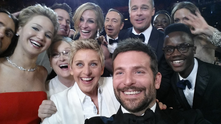Знаменитое селфи с церемонии «Оскар»