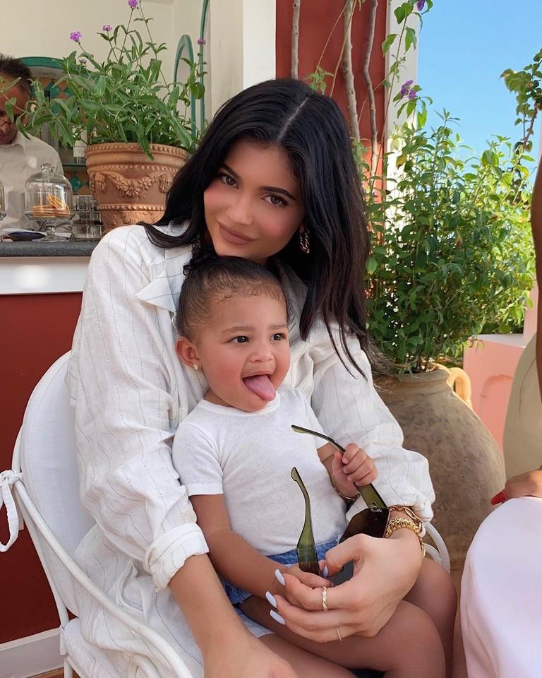 Кайли Дженнер и дочь Сторми