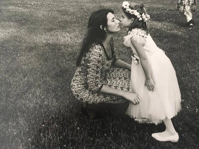 Эмма Робертс с мамой