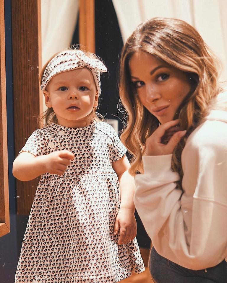 Нюша с дочкой