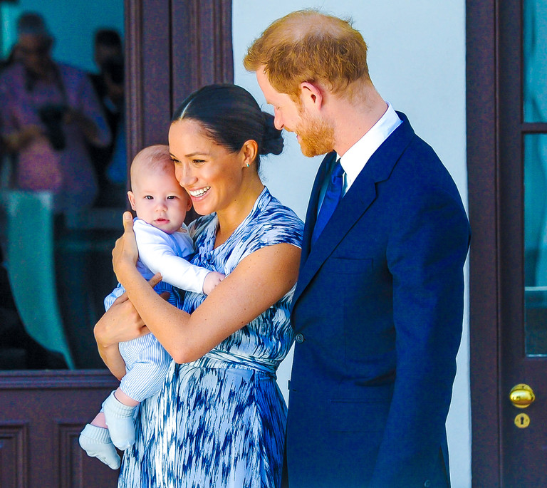 Принц Гарри и Меган Маркл с сыном Арчи