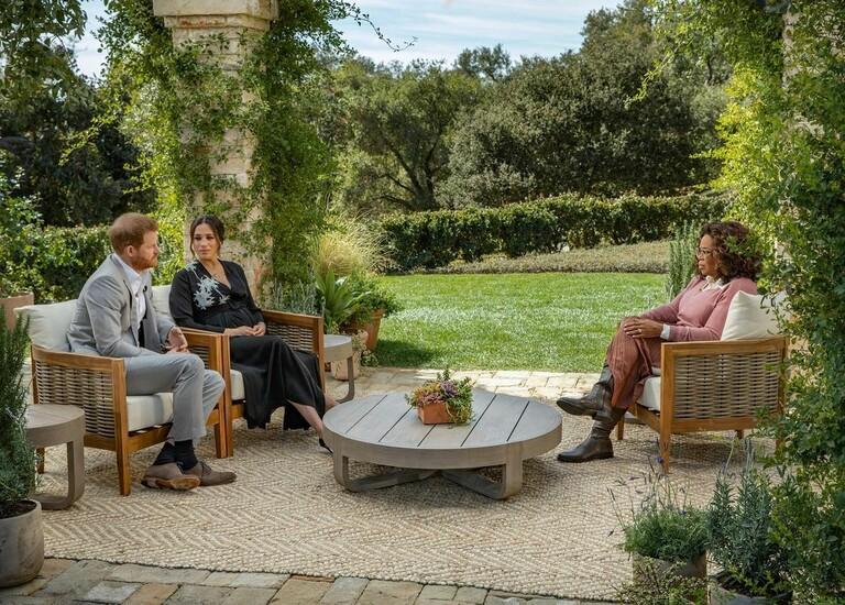 Принц Гарри и Меган Маркл на интервью Опры Уинфри