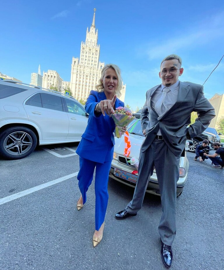 Ксения Собчак и Моргенштерн