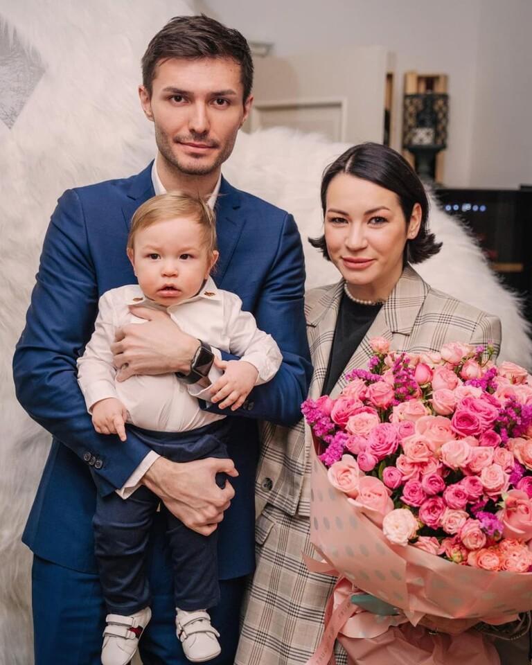 Ида Галич с мужем Аланом Басиевым