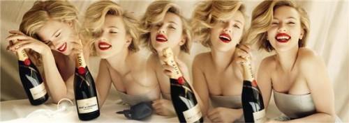 Скарлетт Йоханссон в рекламе шампанского