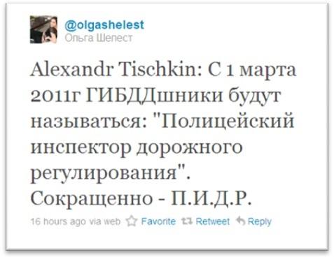 твит Шелест