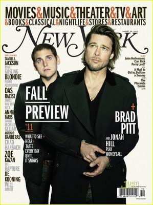 Брэд Питт и Джона Хилл для «New York»