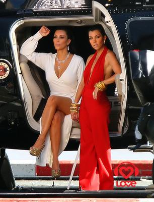 Ким Кардашиян с сестрой Кортни