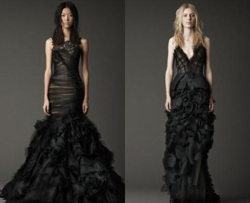 Горячие новости: Вера Вонг создала чёрные свадебные платья