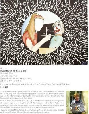 Руперт Гринт рисует ради благотворительности