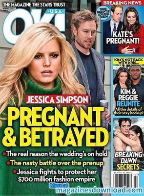 Беременную Джессику Симпсон бросил отец ее ребенка