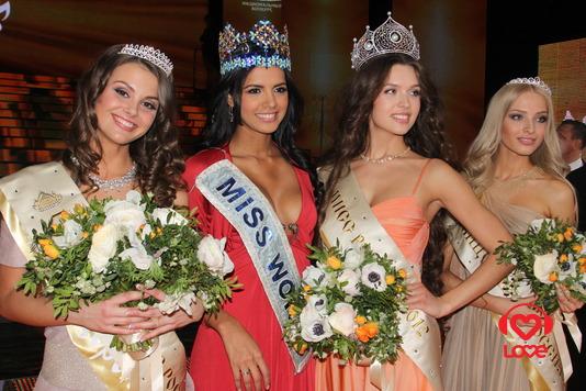 Победительницы конкурса и Мисс мира - 2011 Ивиан Саркос