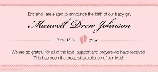 Джессика Симпсон родила дочь!
